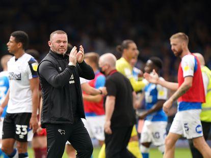 El entrenador del Derby County, Wayne Rooney, tras el partido contra el Peterbrough el sábado pasado.