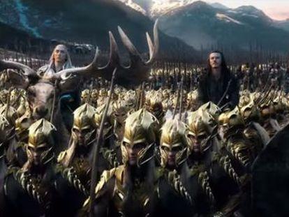 Un fotograma de 'El hobbit: la batalla de los cinco ejércitos', tercera película de la adaptación del libro de Tolkien.