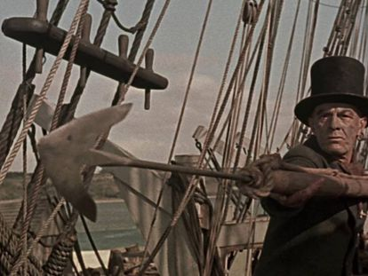 El arponero Queequeg en la versión cinematográfica de John Huston de 'Moby Dick'