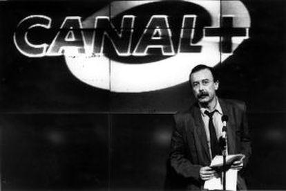 Juan Cueto, director de Canal +, en una imagen de 1990.