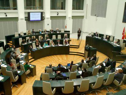 Vista del pleno del Ayuntamiento de Madrid.