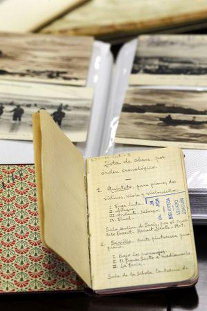 Una de las libretas-diario del compositor.