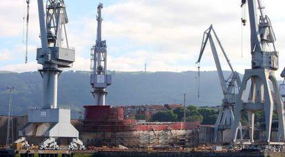 Astilleros en el País Vasco