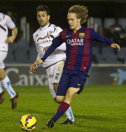 Halilovic, en un Barça B-Mirandés.
