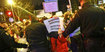 Manifestantes este viernes en Valladolid.