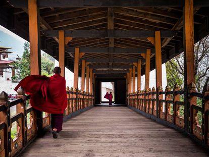 Un monasterio en Bután.