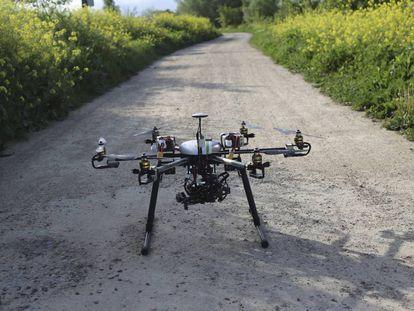 Uno de los drones de SpectralGeo.