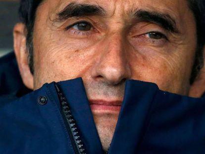 Valverde, en el último duelo ante el Espanyol.