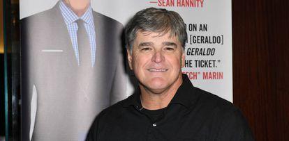 El presentador Sean Hannity, el 2 de abril pasado en Nueva York.