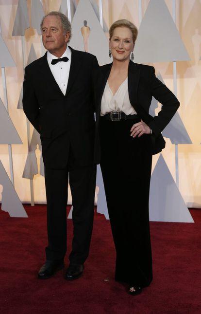 La actriz Meryl Streep y el escultor Don Gummer.