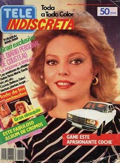 Portada de la revista 'Teleindiscreta' del año 1985