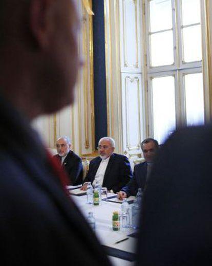Javad Zarif, el ministro iraní de Exteriores, el viernes en Viena.