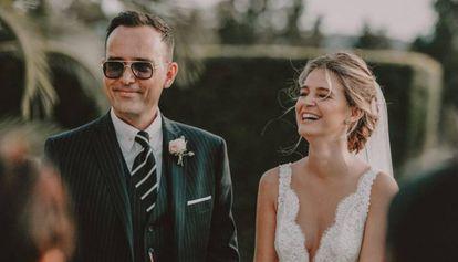 Risto Mejide y Laura Escanes, en el día de su boda, el 20 de mayo de 2017.