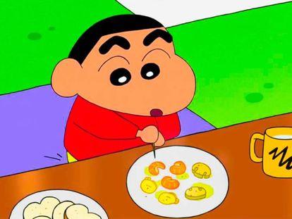 Shin chan, el niño japonés famoso por enseñar el culo cumple 15 años en la tele