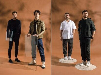 A la izquierda, Lucas Zaragosí y Adrián Salvador (Estudio Savage). A la derecha, Alberto Sánchez y Eduardo Villalón (MUT Design).