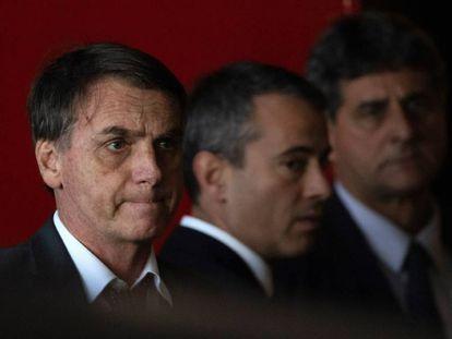 Bolsonaro, durante unas reuniones en Brasilia.