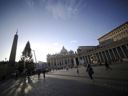 La plaza de San Pedro, en Ciudad del Vaticano.