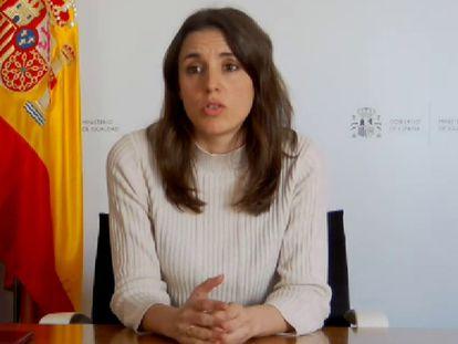 Irene Montero habla sobre la 'docuserie' de Rocío Carrasco, el 22 de marzo.