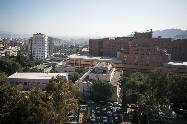 Vista general del Hospital Vall d'Hebron, en Barcleona.