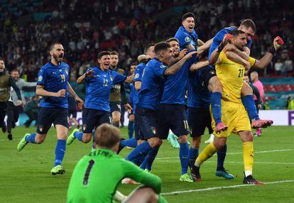 Italia gana la final de la Eurocopa en penaltis contra Inglaterra en Wembley.