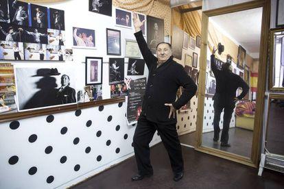 Carrete, en su escuela de baile en Torremolinos.