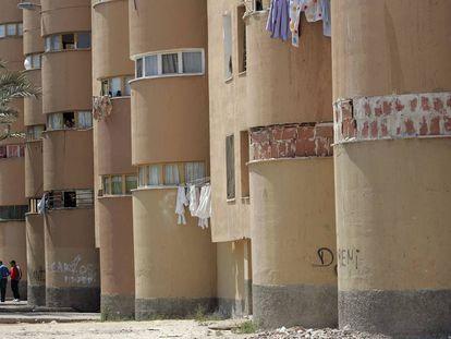 Viviendas sociales en el barrio de Los Palmerales de Elche.