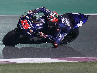 Maverick Viñales, durante una de las sesiones de entrenamiento este fin de semana en Qatar.