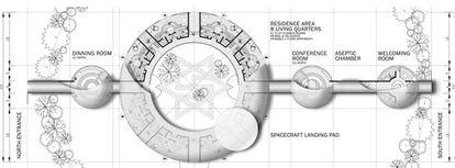 Planos de la futura embajada Elohim. |