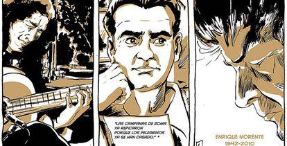 Imágenes cedidas de algunas viñetas del cómic.