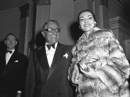 Maria Callas y Aristóteles Onassis, en 1959.