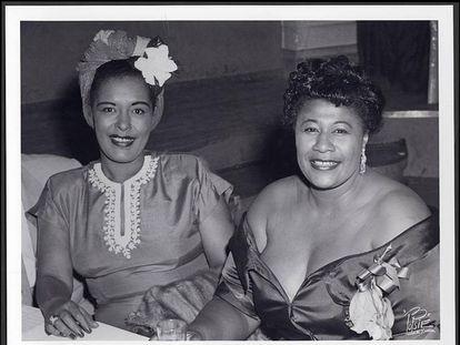 Billie Holiday (izquierda) y Ella Fitzgerald, aunque rivales, se respetaban.