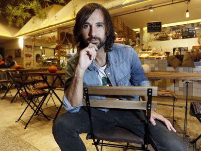 El cantante David Otero en El Huerto de Lucas (Madrid).