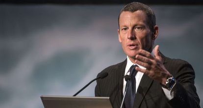 Armstrong, en un charla contra el cáncer en Montreal. en agosto.
