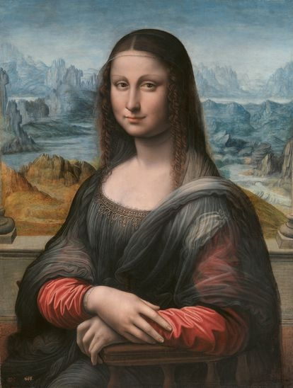 La Mona Lisa del Prado, tras su restauración en 2021, cuando se borró el fondo negro que la cubría.