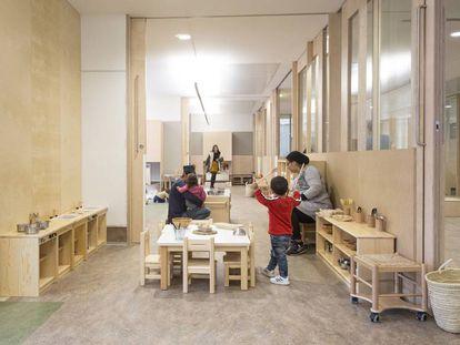 Una escuela infantil municipal de Barcelona, en una imagen de archivo.