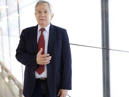 El presidente del Colegio de Medicos de Venezuela, Douglas León Natera, este jueves en Madrid.