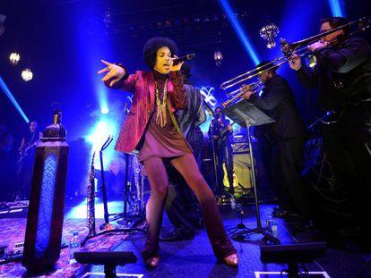Prince, durante una actuación en 2014.