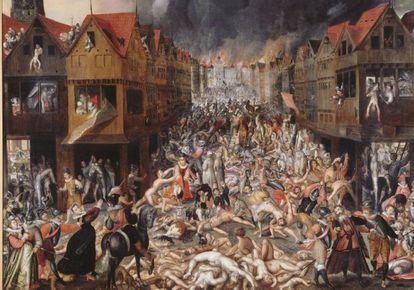 'La furia española en Amberes, 4 de noviembre de 1576' (1580), anónimo del Museo aan de Stroom (Amberes).