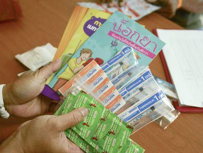 Materiales para prevención de sida en poblaciones de riesgo.