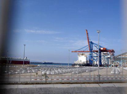 El moderno puerto de Tánger-Med.