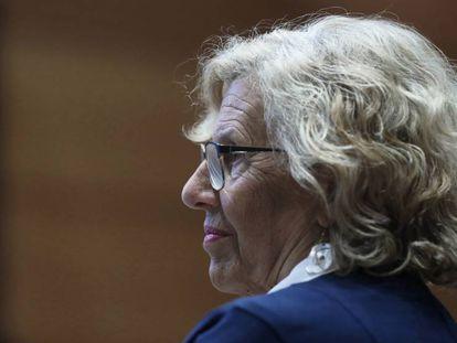 La alcaldesa de Madrid, Manuela Carmena,en un acto celebrado el pasado viernes.