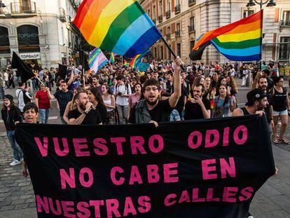 Marcha con motivo del Día Internacional contra la Homofobia, Transfobia y Bifobia.