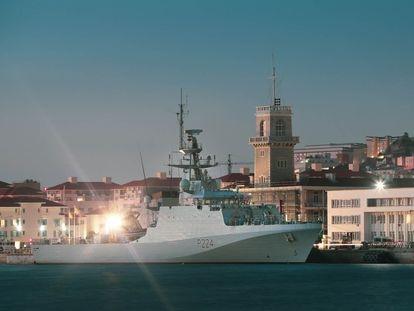 El buque 'HMS Trent', en el puerto de Gibraltar en agosto de 2020.