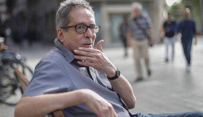 César Aira, en Barcelona en 2019.