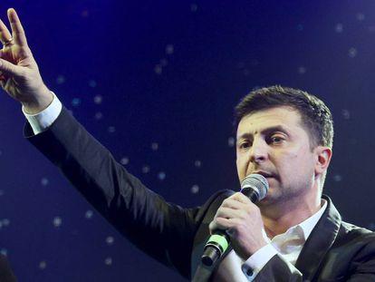 El ganador de la primera vuelta, Volodymyr Zelenskiy.