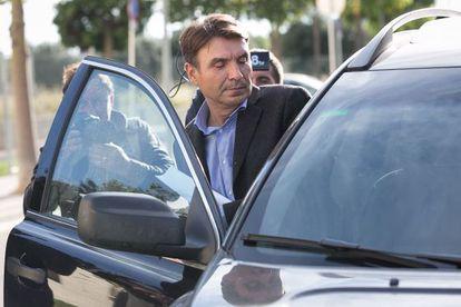 Josep Antoni Rosell, el pasado viernes tras ser puesto en libertad con cargos por el juez.
