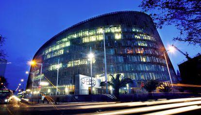 Fachada del Centro de Investigación Biomédica de Barcelona.