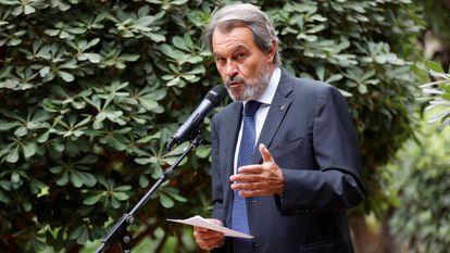 El expresidente de la Generalitat Artur Mas en una rueda de prensa el pasado junio.
