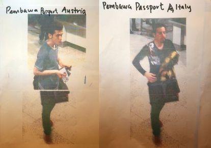 Los dos iraníes que volaban con pasaportes europeos robados.