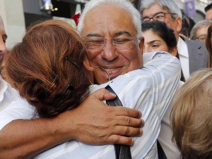 El líder socialista António Costa, en un acto electoral el viernes en Lisboa.